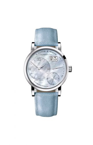 A. Lange & Söhne 113.043 : Kleine Lange 1 White Gold Blue Mother of Pearl