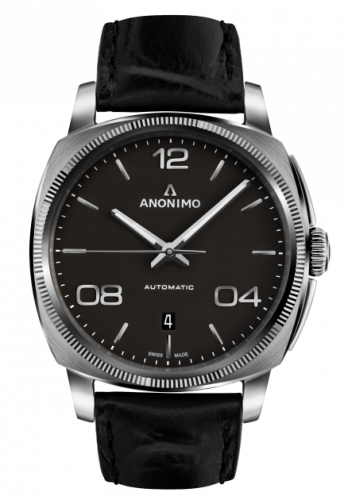 AM-4000.01.101.W11 : Anonimo Epurato Automatic Stainless Steel / Anthracite / Leather