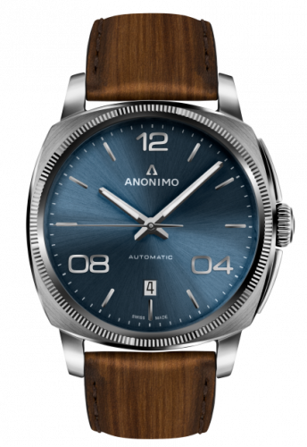 AM-4000.01.103.W22 : Anonimo Epurato Automatic Stainless Steel / Blue / Leather