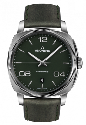 AM-4000.01.107.W66 : Anonimo Epurato Automatic Stainless Steel / Green / Leather