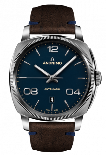 AM-4000.01.108.K35 : Anonimo Epurato Automatic Stainless Steel / Blue / Leather