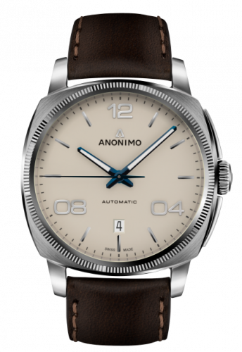 AM-4000.01.310.W42 : Anonimo Epurato Automatic Stainless Steel / Cream / Leather