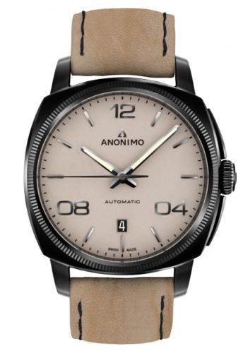 AM-4000.02.229.K19 : Anonimo Epurato Automatic Stainless Steel / DLC / Sand / Leather