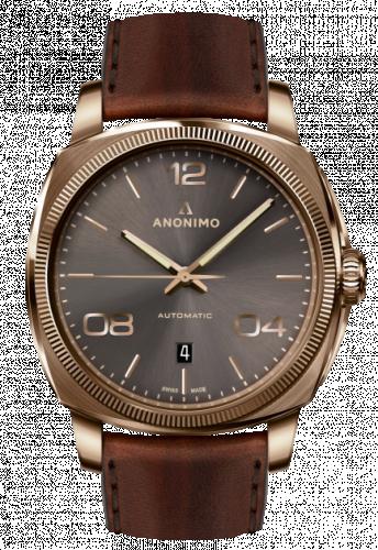 AM-4000.04.441.W88 : Anonimo Epurato Automatic Bronze / Anthracite / Leather