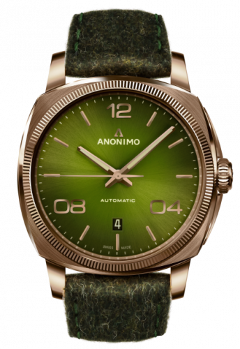 Anonimo AM-4000.04.466.F66 : Epurato Automatic Bronze / Green / Leather