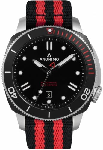 Anonimo AM-1002.01.001.A11 : Nautilo Automatic Stainless Steel / DLC / Black / NATO