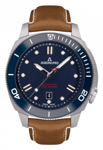 Anonimo AM-1002.06.004.A06 : Nautilo Automatic Stainless Steel / Blue / Leather