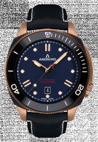 Anonimo AM-1002.08.005.A05 : Nautilo Automatic Bronze / DLC / Blue / Leather
