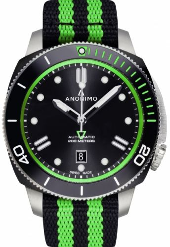 Anonimo AM-1002.11.007.A16 : Nautilo Automatic Stainless Steel / DLC / Black / NATO