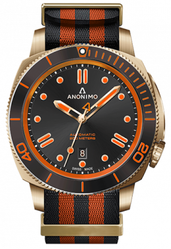 Anonimo AM-1002.12.007.A17 : Nautilo Automatic Bronze / Black / NATO