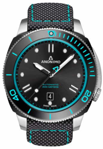 Anonimo AM-1002.13.113.T34 : Nautilo Automatic Stainless Steel / DLC / Black / Canvas