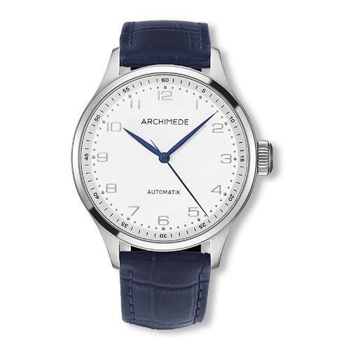 UA7929-M2.13 : Archimede Klassik 42 Stainless Steel / Silver / Blue Leather