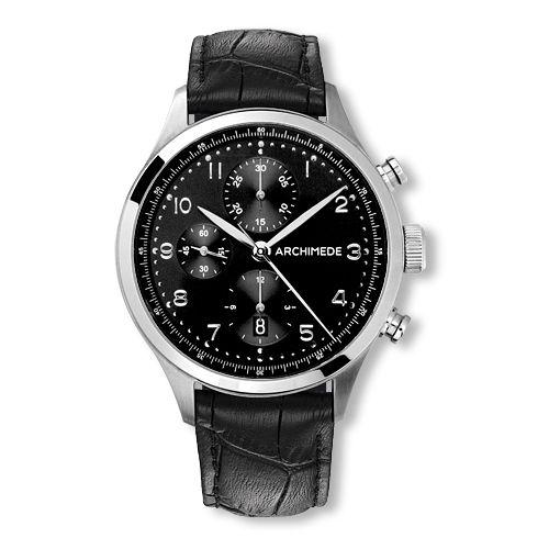 UA7939-C2.31 : Archimede Klassik Chronograph Stainless Steel / Black / Leather