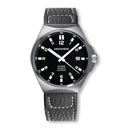 Archimede UA8239-A2.1-H : OutDoor 39 Protect Stainless Steel / Black / Leather