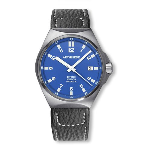 Archimede UA8239-A3.1-H : OutDoor 39 Protect Stainless Steel / Blue / Leather