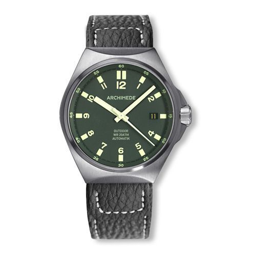 Archimede UA8239-A4.1-H : OutDoor 39 Protect Stainless Steel / Green / Leather