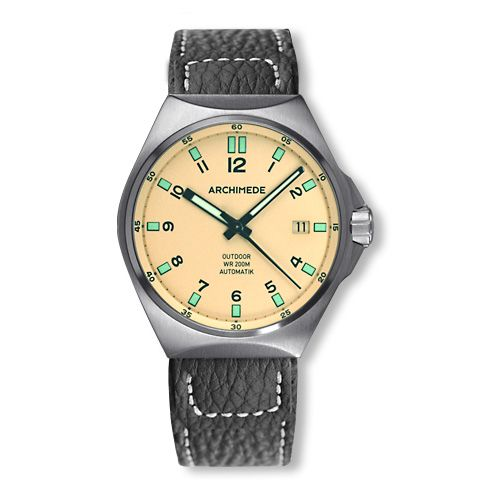 Archimede UA8239-A5.1-H : OutDoor 39 Protect Stainless Steel / Cream / Leather