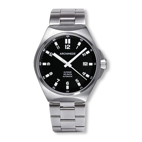 Archimede UA8239B-A2.1-H : OutDoor 39 Protect Stainless Steel / Black / Bracelet
