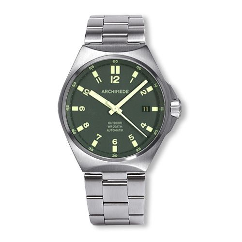 Archimede UA8239B-A4.1-H : OutDoor 39 Protect Stainless Steel / Green / Bracelet