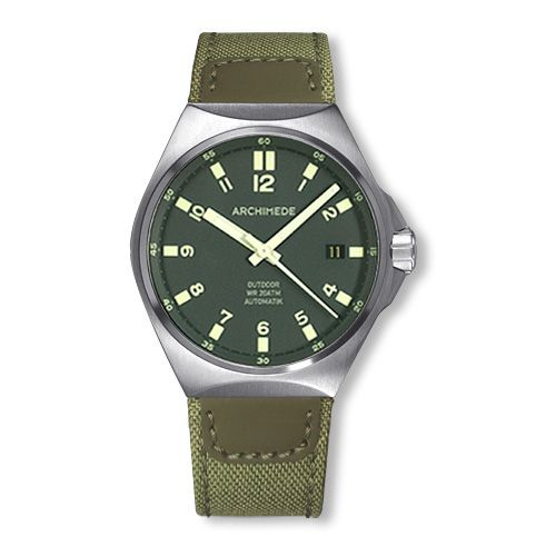 Archimede UA8239CA-A4.1-H : OutDoor 39 Protect Stainless Steel / Green / Canvas
