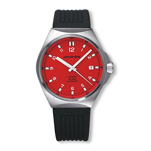 Archimede UA8239S-A6.1-H : OutDoor 39 Protect Stainless Steel / Red / Rubber