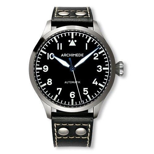 Archimede UA7949-A1.1 : Pilot 45 Automatic Stainless Steel / Black