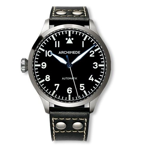Archimede UA7949-A1.1-L : Pilot 45 Automatic Stainless Steel / Black