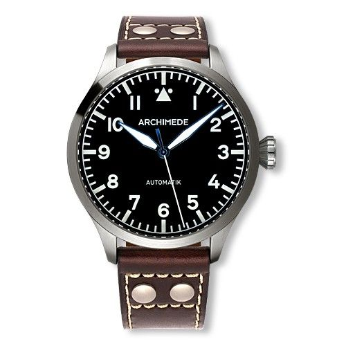 Archimede UA7949-A1.3 : Pilot 45 Automatic Stainless Steel / Black
