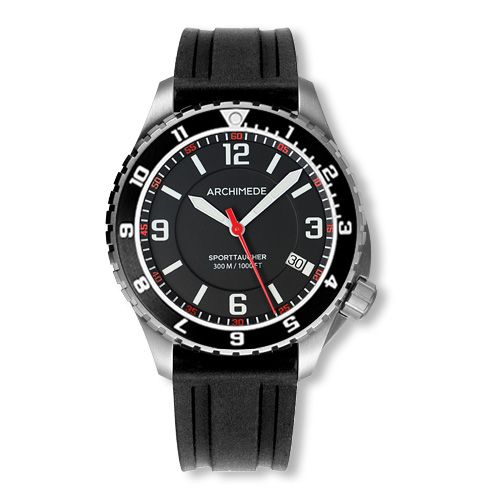 Archimede UA8974-GS-A1.2 : SportTaucher GMT Stainless Steel / Black / Rubber