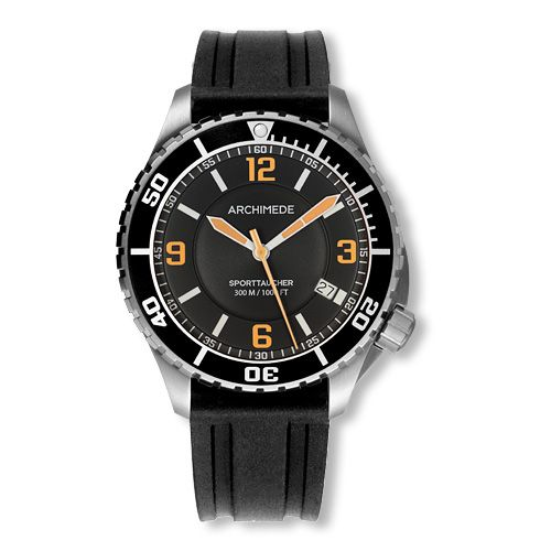 Archimede UA8974-TS-A4.2 : SportTaucher Stainless Steel / Black / Rubber