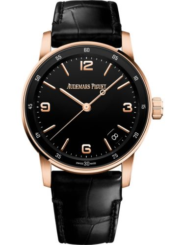 Audemars Piguet 15210OR.OO.A002CR.01 : CODE 11.59 Automatic Pink Gold / Black
