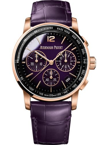 Audemars Piguet 26393OR.OO.A616CR.01 : CODE 11.59 Chronograph Selfwinding Pink Gold / Purple