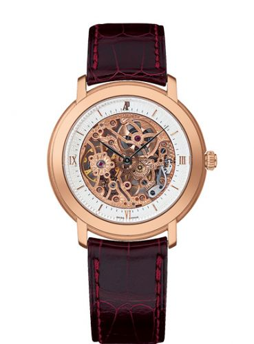 Audemars Piguet 15058OR.OO.A067CR.01 : Jules Audemars Skeleton Hand-Wound Pink Gold / Silver