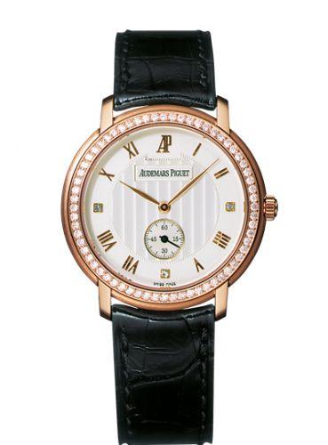 Audemars Piguet 15103OR.ZZ.A001CR.01 : Jules Audemars Small Seconds Pink Gold / Diamond / Silver