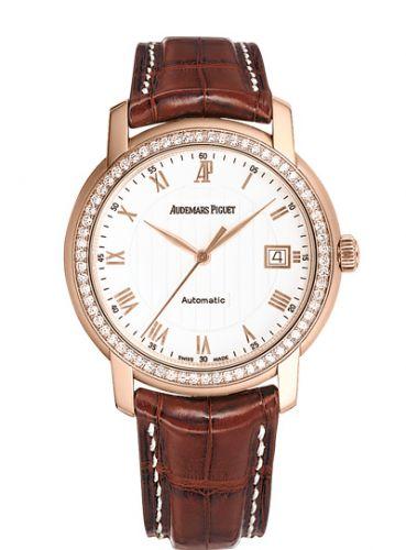 Audemars Piguet 15140OR.ZZ.A088CR.03 : Jules Audemars Selfwinding Pink Gold / Diamond / White