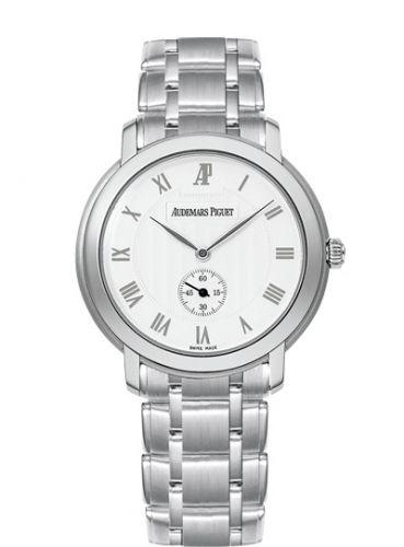 Audemars Piguet 15155BC.OO.1229BC.01 : Jules Audemars Small Seconds White Gold / Silver / Bracelet