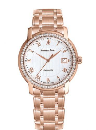 Audemars Piguet 15158OR.ZZ.1229OR.01 : Jules Audemars Self-Winding Pink Gold / Diamond / Silver / Bracelet
