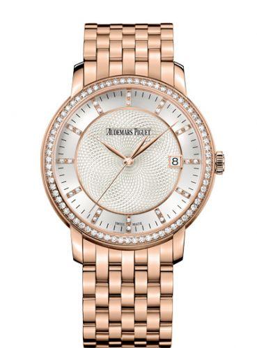 Audemars Piguet 15173OR.ZZ.1270OR.01 : Jules Audemars Selfwinding Pink Gold / Diamond / Silver / Bracelet