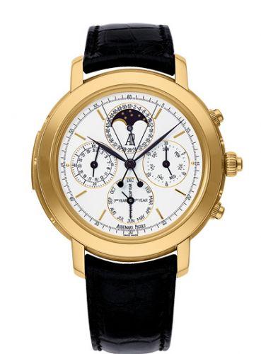 Audemars Piguet 25866BA.OO.D002CR.01 : Jules Audemars 25866 Grande Complication Yellow Gold / White