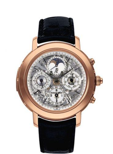 Audemars Piguet 25996OR.OO.D002CR.01 : Jules Audemars Grande Complication Pink Gold / Openworked