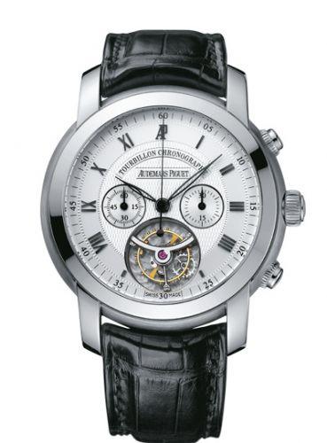 Audemars Piguet 26010BC.OO.D002CR.01 : Jules Audemars Tourbillon Chronograph White Gold / Silver