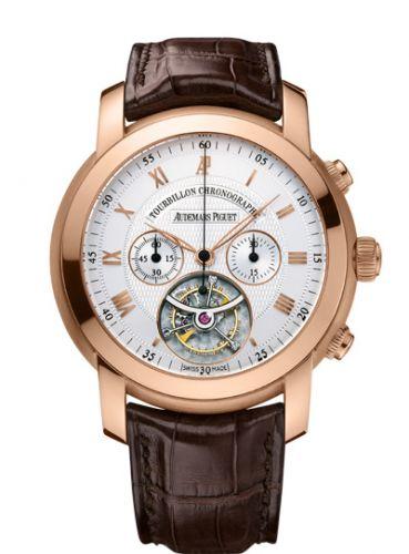 Audemars Piguet 26010OR.OO.D088CR.01 : Jules Audemars Tourbillon Chronograph Pink Gold / Silver