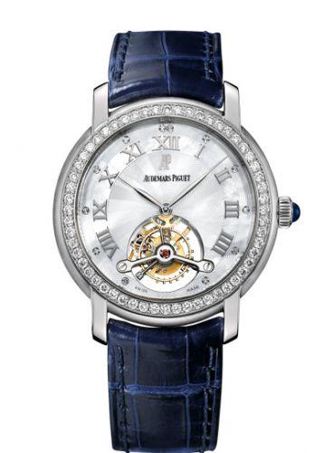26084BC.ZZ.D056CR.01 : Audemars Piguet Jules Audemars Tourbillon White Gold / Diamond / MOP