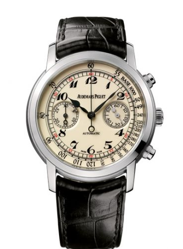 26100BC.OO.D002CR.01 : Audemars Piguet Jules Audemars 26100 Chronograph White Gold / Creme Vintage
