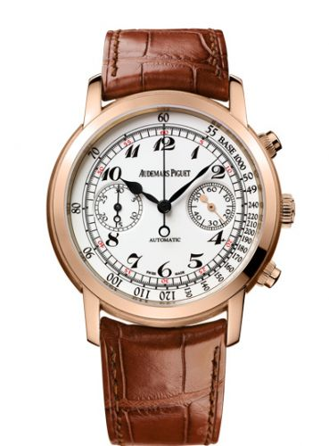 26100OR.OO.D088CR.01 : Audemars Piguet Jules Audemars 26100 Chronograph Pink Gold / White Vintage