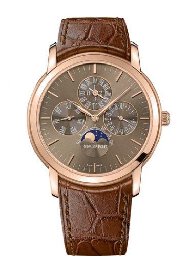 Audemars Piguet 26390OR.OO.D093CR.01 : Jules Audemars 26390 Perpetual Calendar Pink Gold / Brown