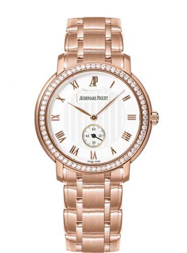 Audemars Piguet 5156OR.ZZ.1229OR.01 : Jules Audemars Small Seconds Pink Gold / Diamond / Silver / Bracelet