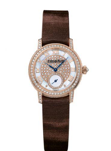 Audemars Piguet 77229OR.ZZ.A082MR.01 : Jules Audemars Small Seconds Pink Gold / Diamond / MOP