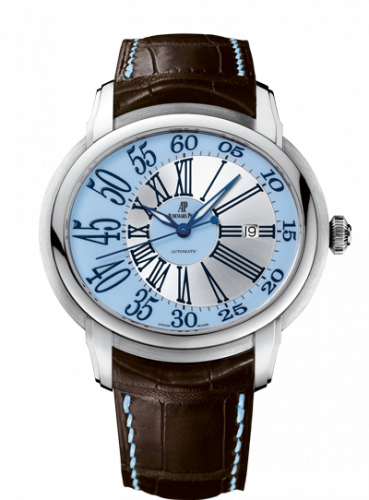 Audemars Piguet 15320BC.OO.D093CR.01 : Millenary Self-Winding White Gold / Blue