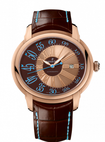 Audemars Piguet 15320OR.OO.D095CR.01 : Millenary Self-Winding Pink Gold / Brown